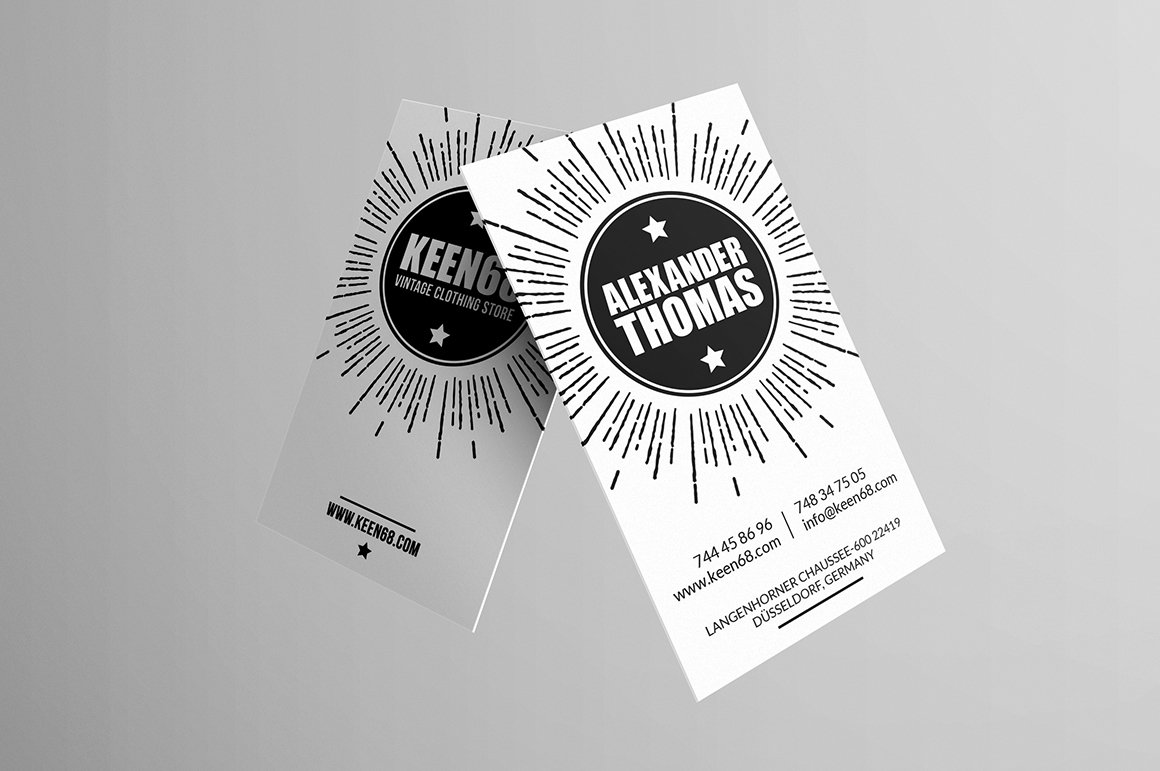 Hipster business cards business card design for Hipster business card