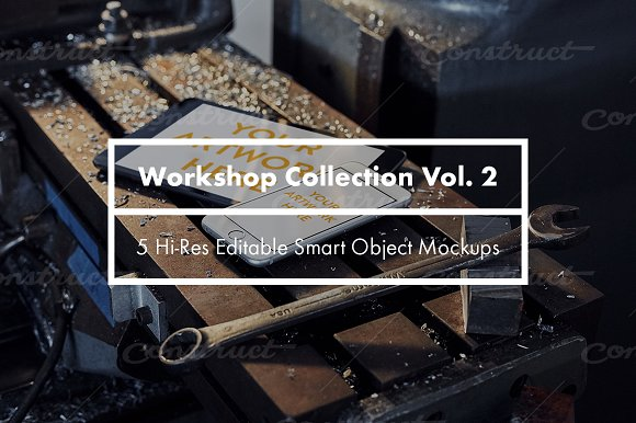 Workshop Collection Vol. 2 Mockups - Product Mockups