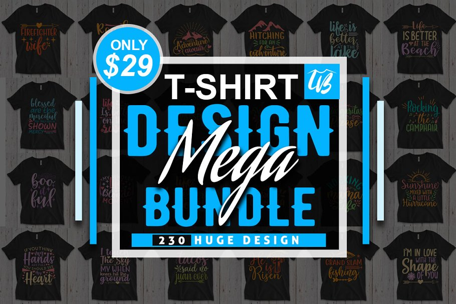 230 SVG T-shirt Design Bundle ~ Graphics ~ Creative Market