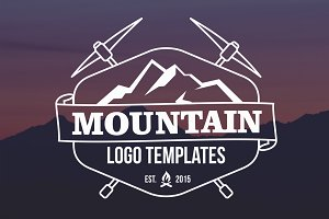 25 Mountain Logo Templates