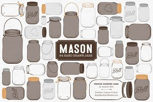 Chocolate Jar Vectors & Clipart