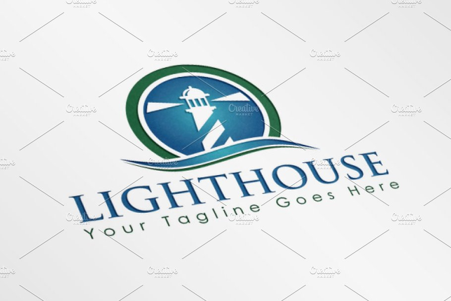 Lighthouse Logo in Logo Templates - product preview 8