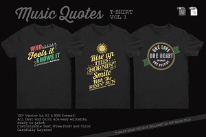 Music Quotes T-Shirt Template Vol. 2