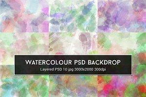 Watercolour PSD Backdrop