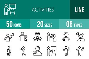 50 Activities Line Icons