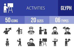 50 Activities Glyph Icons