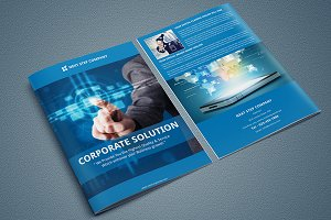 InDesign-Corporate Bi-Fold Brochure