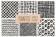 Painted Seamless Patterns Set 3
