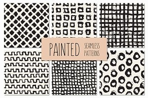 Painted Seamless Patterns Set 3
