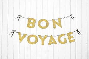 Bon Voyage Party Decor Garland