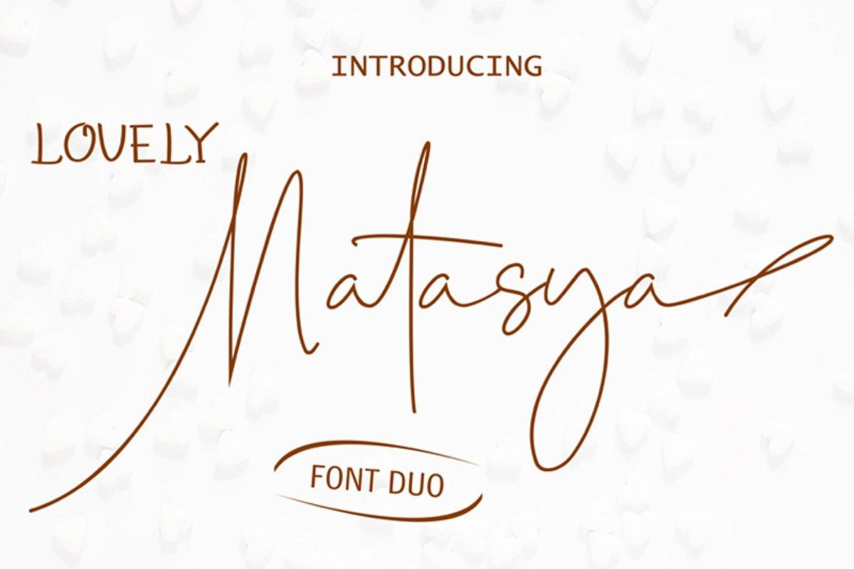 Lovely Natasya - Duo font