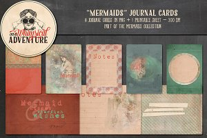 Mermaids Journal Cards