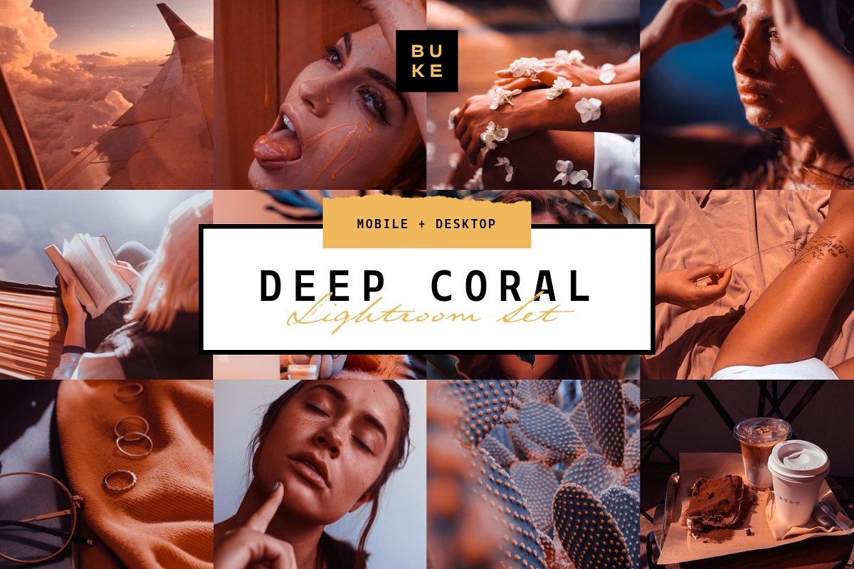 Deep Coral 4 Lightroom Preset Bundle
