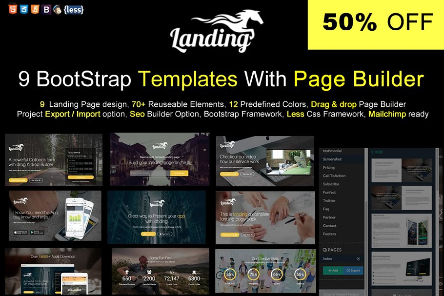 Bootstrap Template With Page Builder ~ Bootstrap Themes ~ Creative