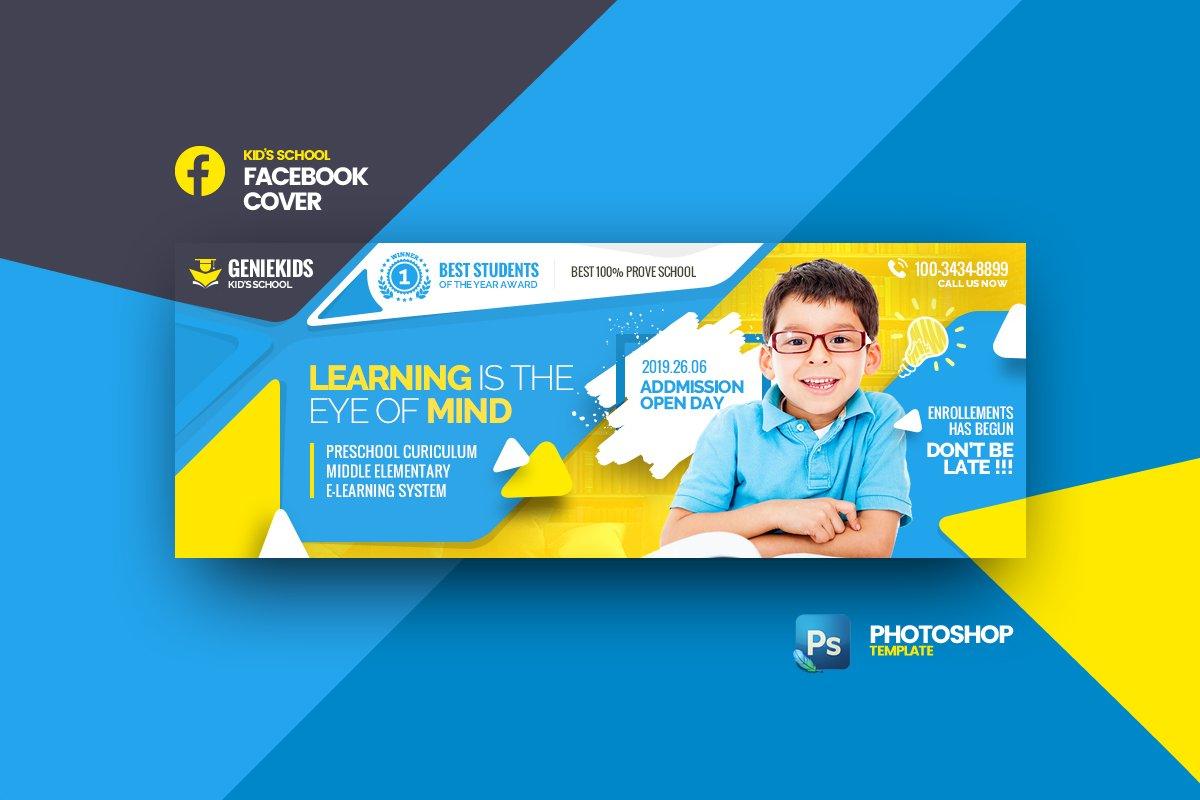 Geniekids - Kids School FB Cover