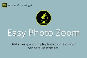 Easy Photo Zoom Adobe Muse Widget