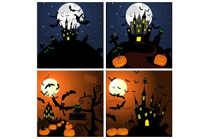 4 Halloween Greeting Cards