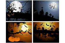 4 Halloween Greeting Cards