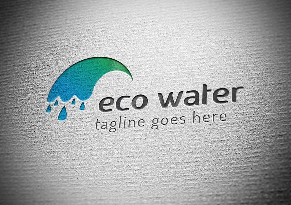 Eco Water Logo in Logo Templates - product preview 1