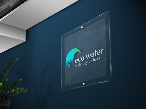 Eco Water Logo in Logo Templates - product preview 3