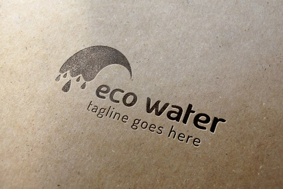 Eco Water Logo in Logo Templates - product preview 4