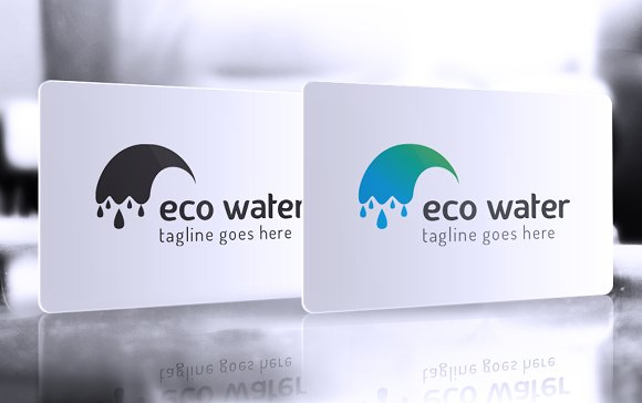 Eco Water Logo in Logo Templates