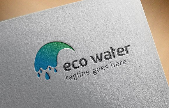 Eco Water Logo in Logo Templates - product preview 8