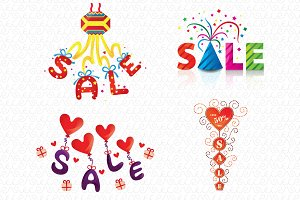Sale VectorGraphicsColorfulElements