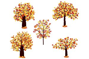 5 Autumn Trees