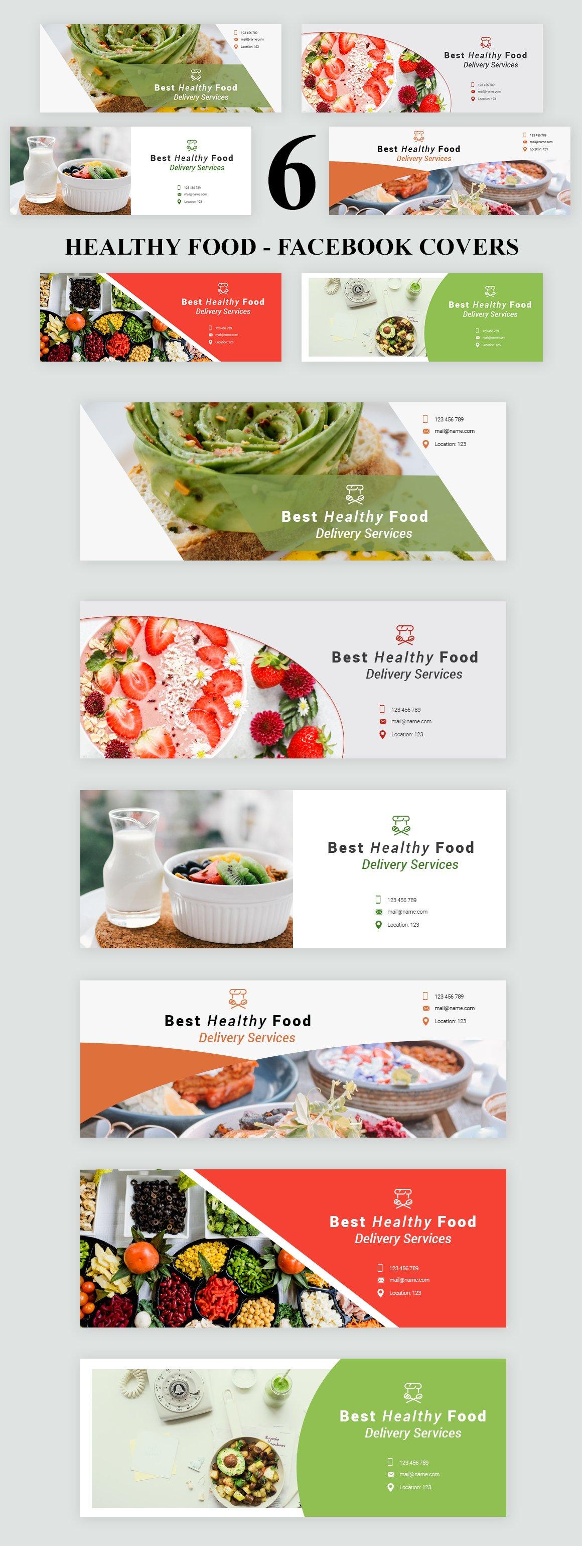 Healthy Food - Facebook Covers ~ Facebook Templates ~ Creative Market