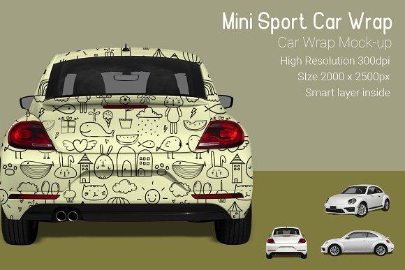 Mini Sport Car Wrap Mock-Up