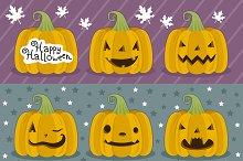 Many pumpkin prepared for Halloween.