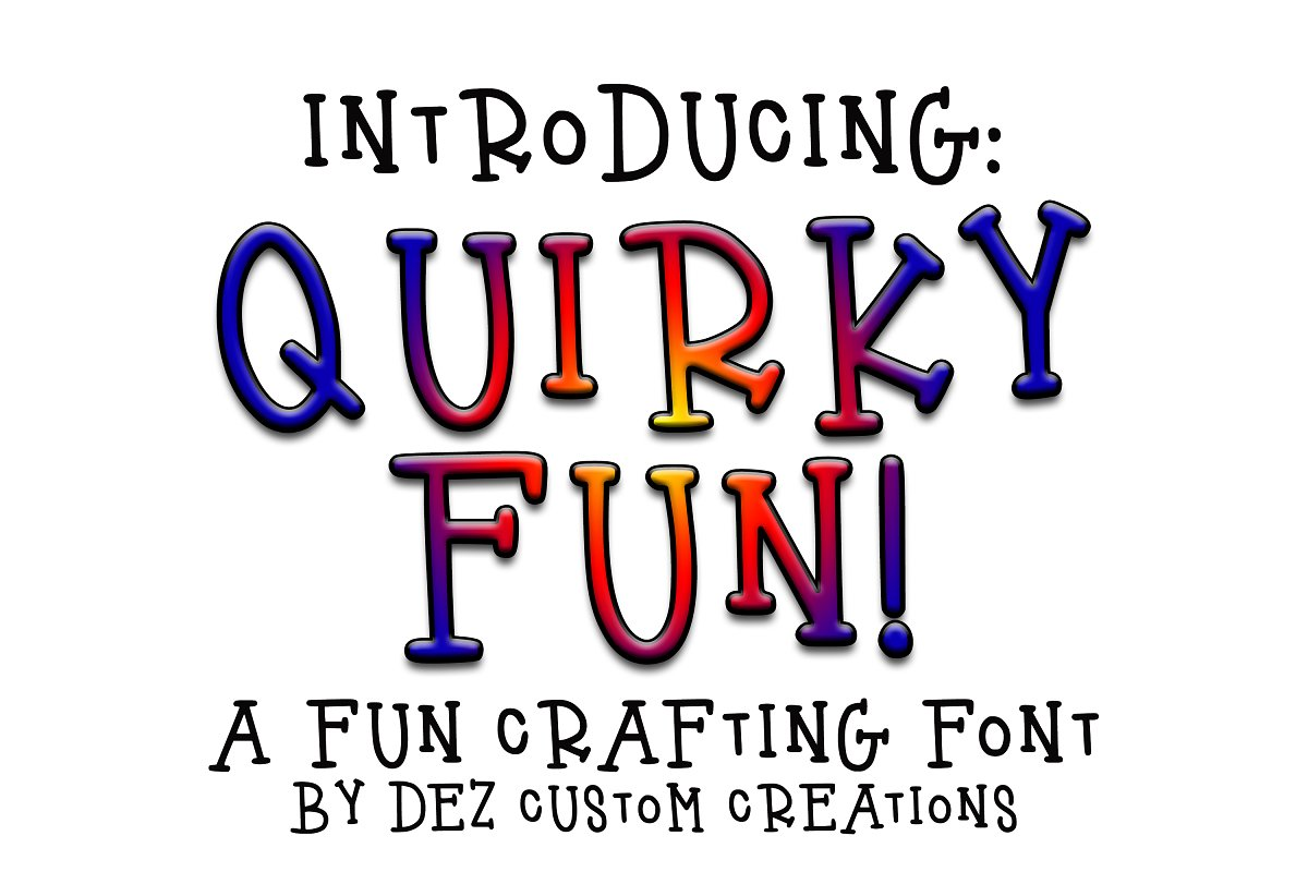 Quirky Fun - A Fun Hand LetteredFont
