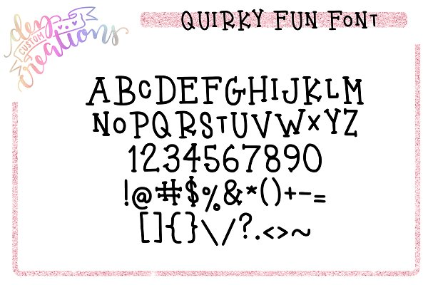 Best Quirky Fun - A Fun Hand LetteredFont Vector