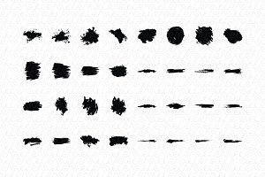 Splatters Vector Graphic Elements