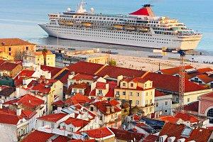 Cruise liner, Lisbon, Portugal