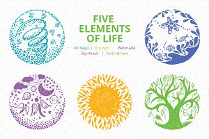 Five Elements of Life - Vector Set