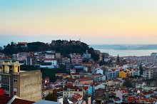 Sunset panorama of Lisbon, Portugal
