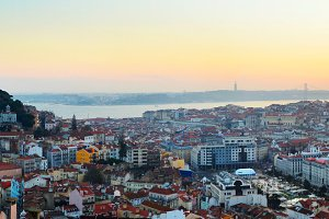 Sunset panorama of Lisbon, Portugal