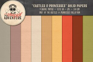 Castles & Princesses Solid Papers
