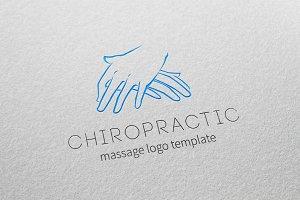 Chiropractic Massage Logo Template