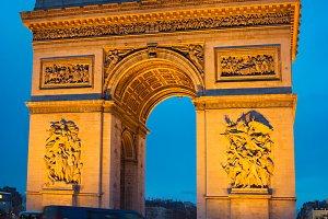 Traffic near Triumph Arch, Paris