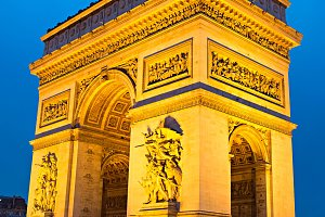 The Triumphal Arch,Paris, France