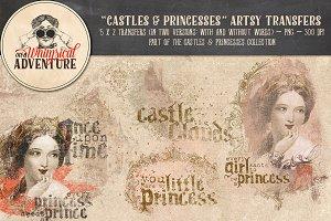 Castles & Princesses Artsy Transfers