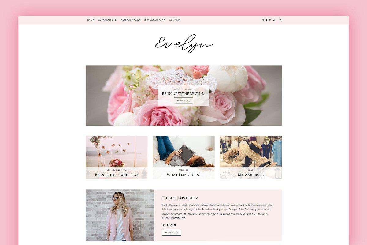 WordPress Blog Theme - Evelyn