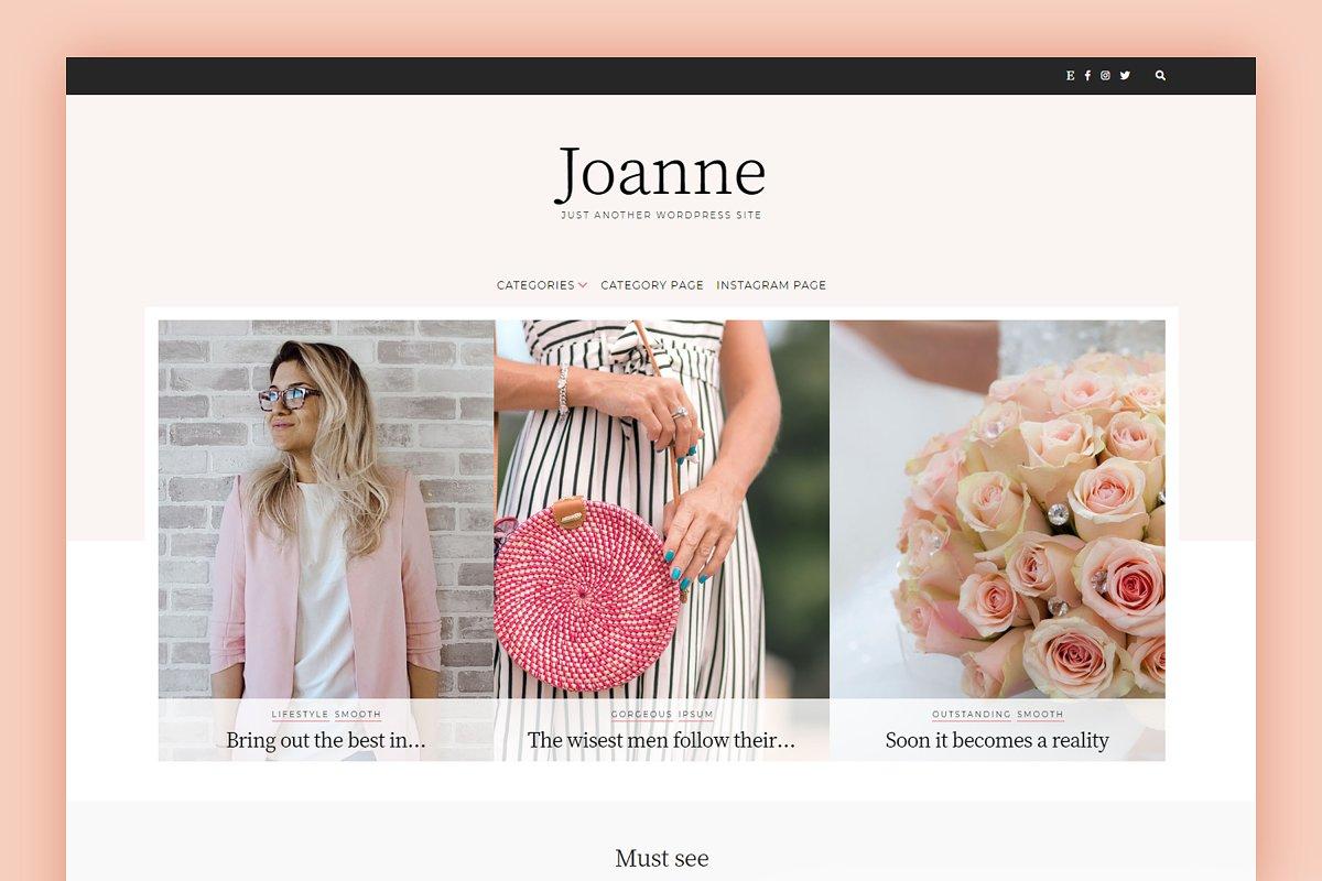 WordPress Blog Theme - Joanne