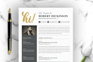 Resume Template 4 Pages-CV Template ~ Resume Templates ...