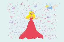 Princess with fairy