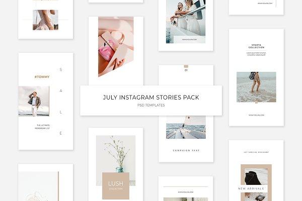 July Instagram Stories Pack