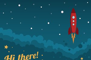 Rocket Launch Vector Background